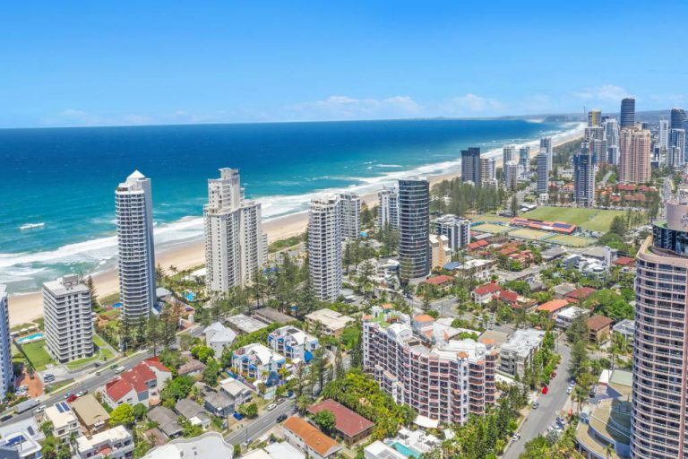 Surfers Beach Resort One - Drone View